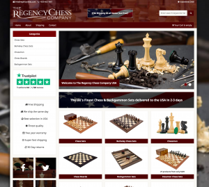 The Regency Chess Company USA Website